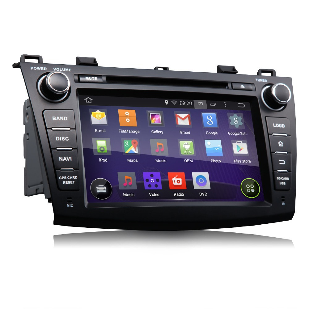 8Quad Core Android 4.4.4 kitkat Car Navitation DVD Player for Mazda 3 (2010-2013) Screen Mirroring Support Android Phone