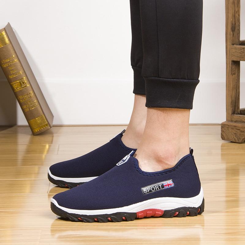 Chaussures 2019 gris De bleu Respirant Nouveau Hommes Noir Maille Décontracté ZPlwiuTkOX