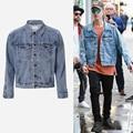 New Arrival Mens Cotton Hip Hop Oversized Denim Jeans Jacket Justin Bieber Fear Of God Jeans Jackets m499