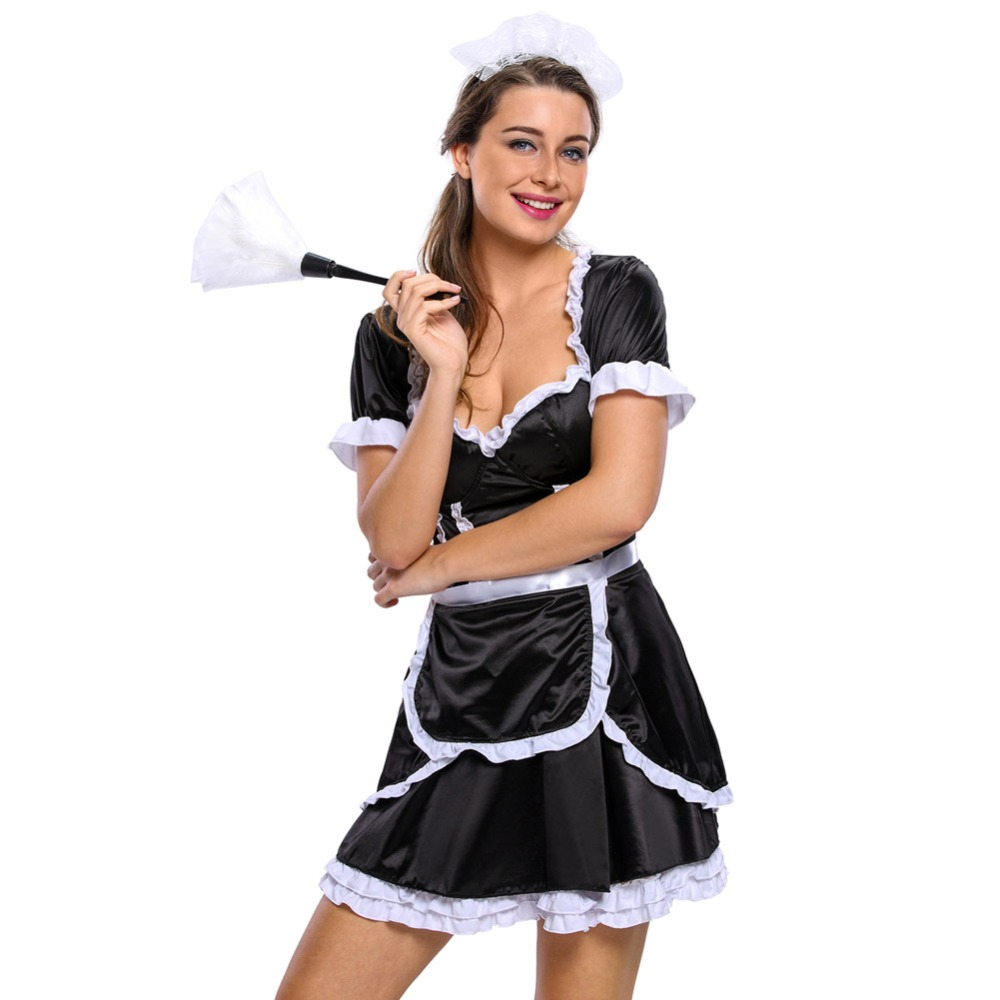 Fgirl Halloween Costumes For Women Sexy Adult New Year Costume Flirty Mistress Maid -7260