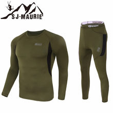 Army Tactical Clothing Fleece T-shirts Pants Camping Hiking Jacket Men Sport Hunting Clothes for Men Breathable suits softshell(China)