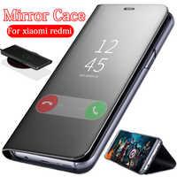 Luxury Mirror Flip Case For xiaomi Redmi Note 7 Stand cover case redmi note 6 5 pro 4a 6a cases xiomi xaomi redmi go coque funda