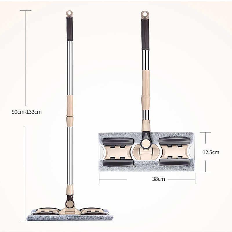 BWOHOPS ممسحة ناعمة ممسحة تنظيف الأرضيات لدلو الغبار Swob السحر وسهلة وستوكات مكنسة الدورية مسحات الألياف رقيق