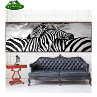 Diamond Embroidery 5D Diy Diamond Paintings Cross Stitch Zebra Lovers Round Diamond Mosaic Animals Home Paintings