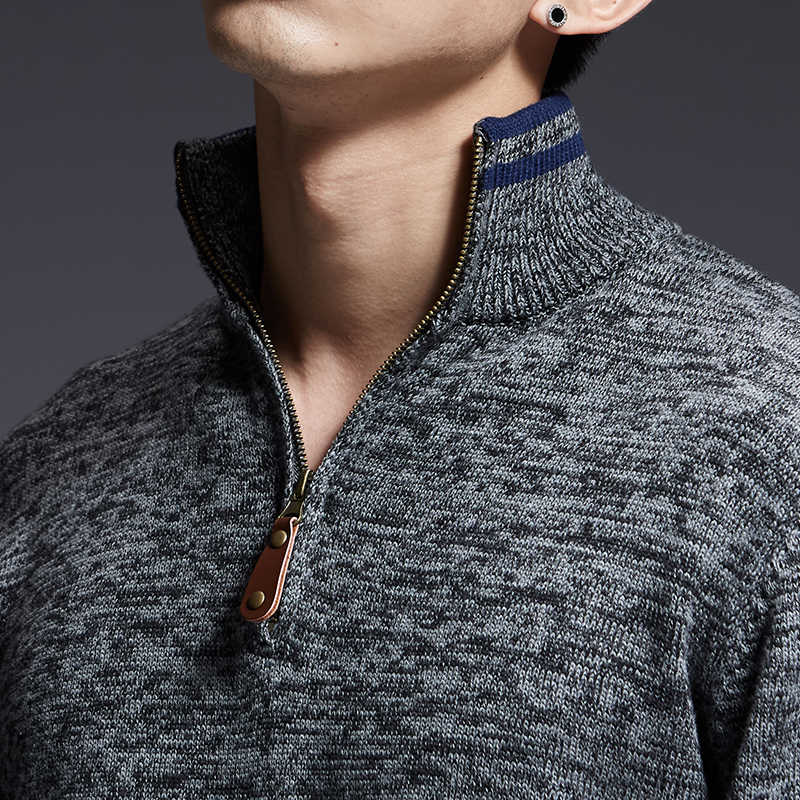 2020 새로운 패션 브랜드 스웨터 남자 풀오버 따뜻한 슬림 맞는 점퍼 니트 터틀넥 가을 한국 스타일 캐주얼 남성 의류
