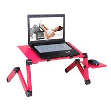 Escritorio portátil para ordenador portátil de pie para sofá cama ordenador portátil mesa plegable Escritorio de cuaderno con alfombrilla de ratón y ventilador de refrigeración para la Oficina de