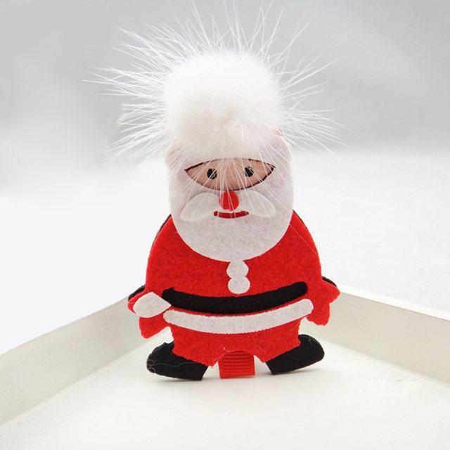 Fashion Christmas Tree Clips Hat Santa Alligator Hair Wholesale Accessories For Children