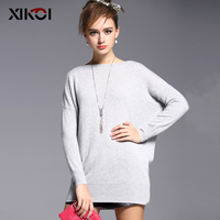 XIKOI High Quality Cashmere Sweater Women Winter Pullover Solid Knitted Sweater Top For Women Autumn Female