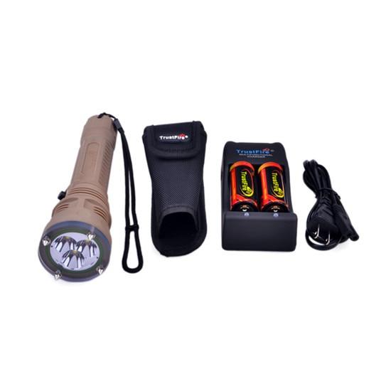 1 Set TrustFire TR DF002 Cree XM L2 T6 1500LM 2 Mode Diving Attack Head Flashlight