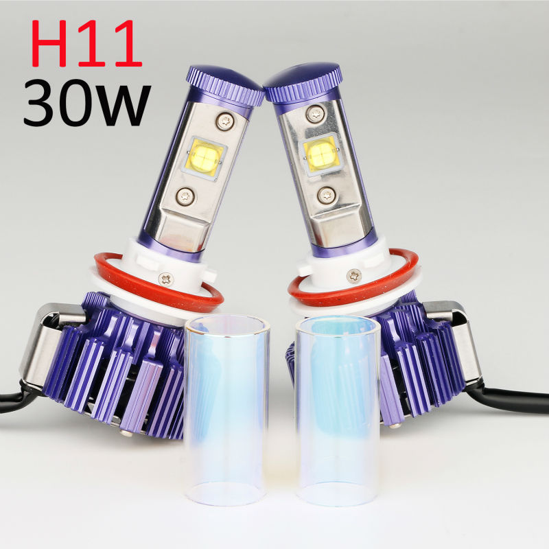 H11 LED Headlight H8 H9 Pair Plug&Play Car Conversion Kit with Cree chip High Low Beam Auto Headlamp 30W 6000K 7200LM 12V A Pair one set 9004 cree led headlight conversion kit high low beam hb2 auto car moto car styling led headlamp driving lamp bulbs white