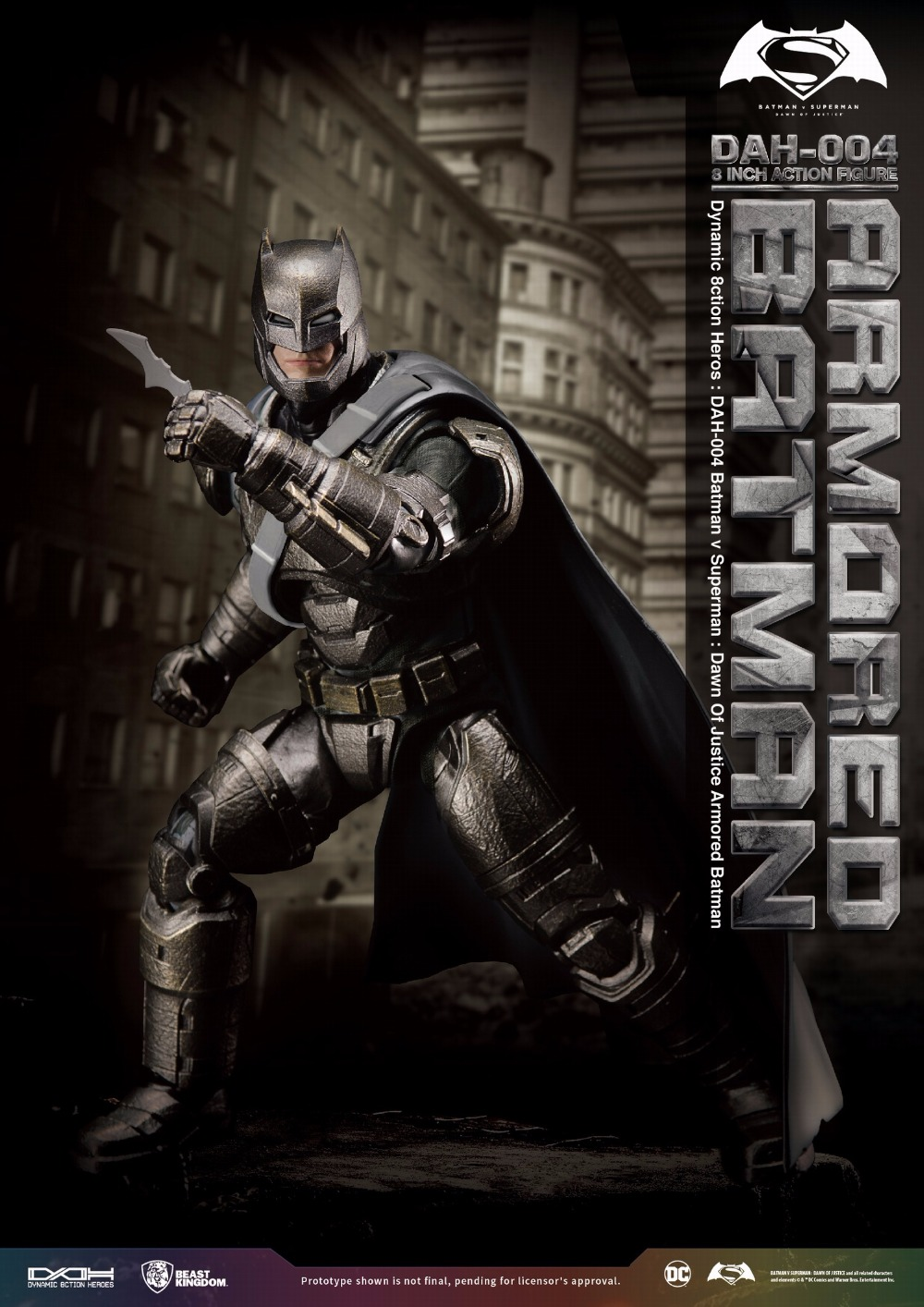 BEAST KINGDOM Batman VS Superman Dawn of Justice Amored Batman 1 9 Action Figure