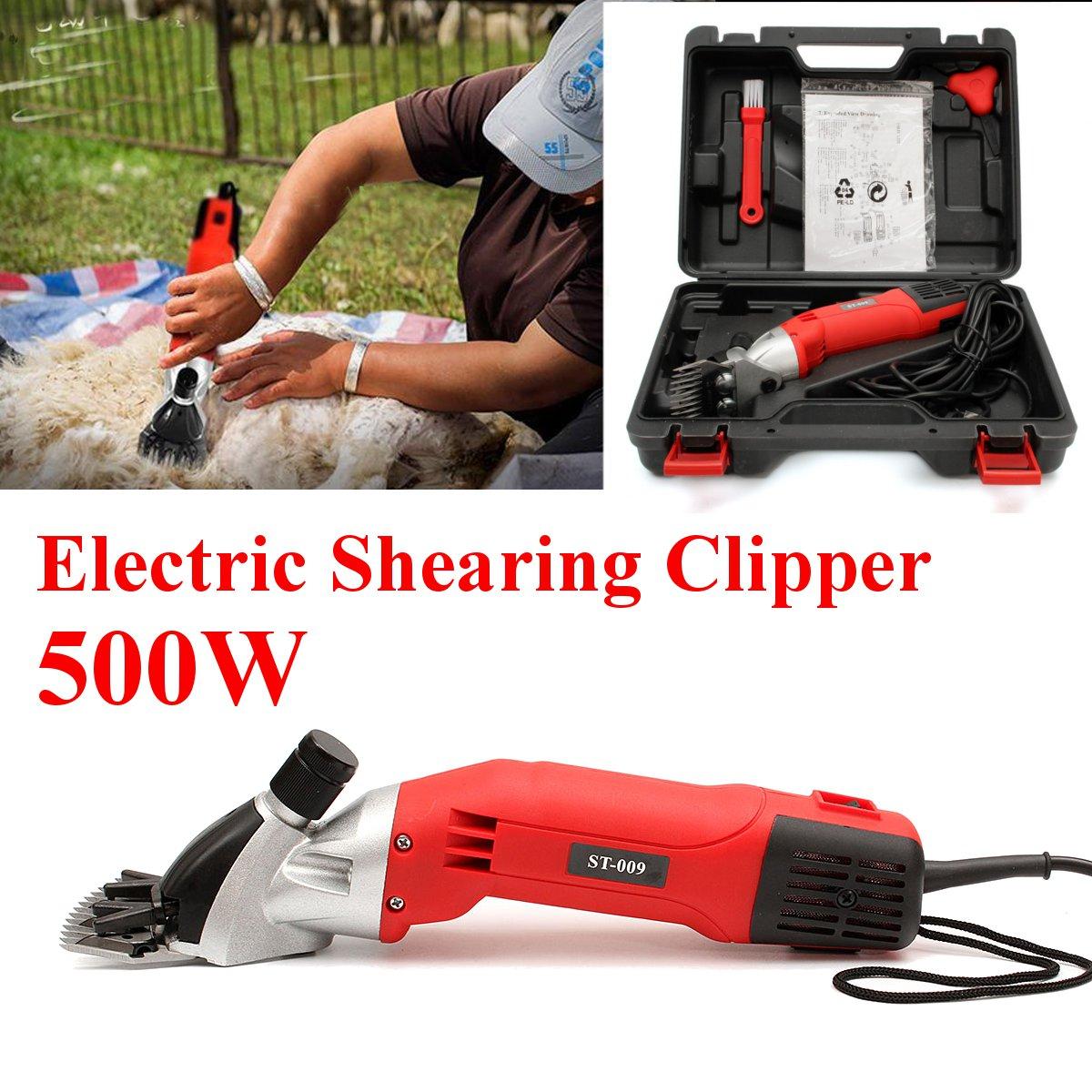500 W 220 V électrique mouton chèvres cisaillement tondeuse cisaillement alpaga ferme cisaillement avec boîte