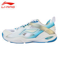 Li Ning Men S Professional Badminton Shoes Anti Slippery Damping Lace Up Sports Shoes Hard Wearing