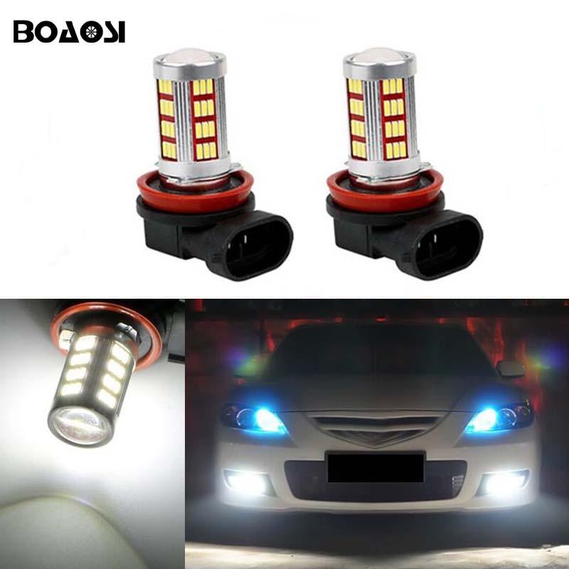 BOAOSI 2x High Power 30W H8 Led Chips Auto Car Lights Fog Driving Light Lamp Bulb For mazda 3 5 6 axela atenza CX-5 CX-7