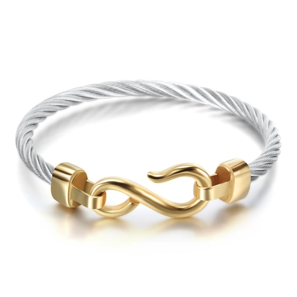 Fashion Charm Armbänder mit Edelstahlhaken Modeschmuck Infinity Love - Modeschmuck - Foto 5