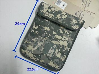 Nieuwe Ymitn Signaal Blocker Militaire camouflage Pouch RFID Tracking & Bugging Privacy Protector straling tas Voor Apple tablet