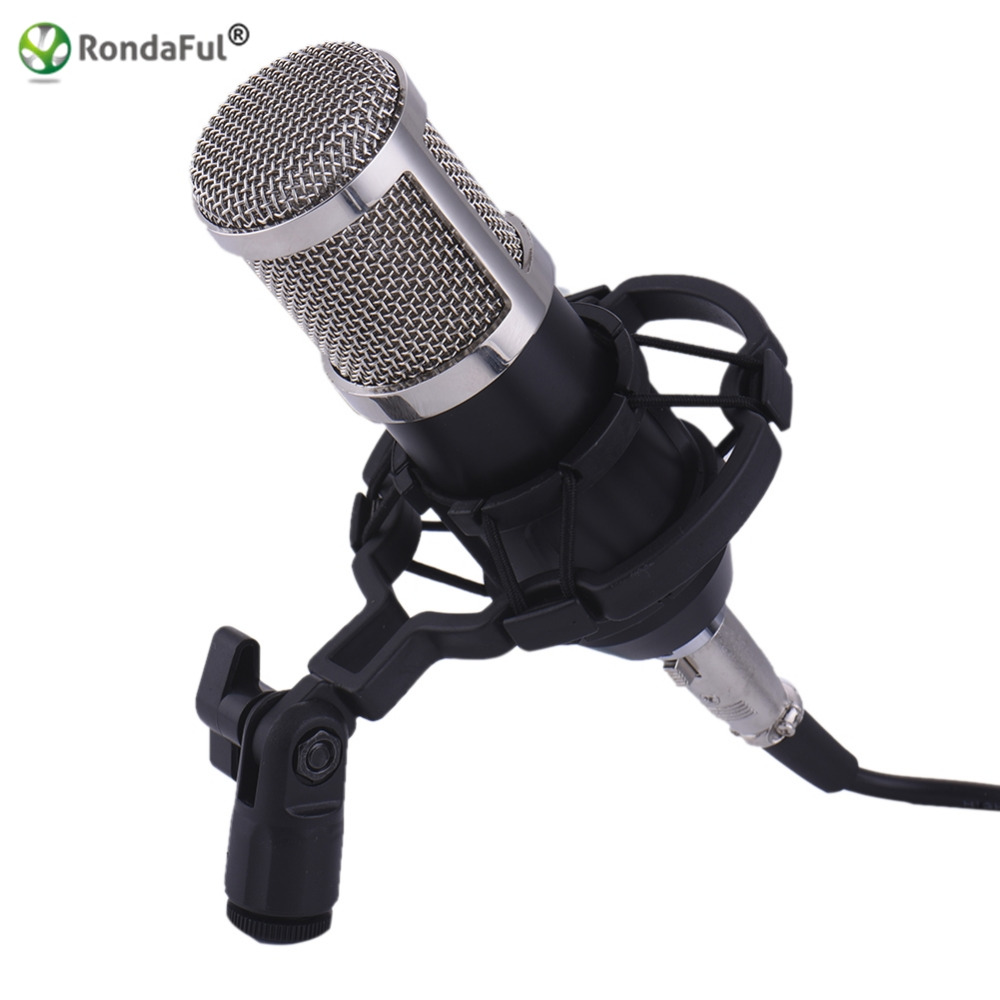 Professional BM800 Microfone 3 5mm Wired Condenser Sound Recording karaoke Microphone with Shock Mount for PC