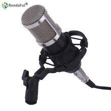 Professionnel BM800 Microfone 3.5mm Filaire À Condensateur Enregistrement Sonore karaoké Microphone avec Shock Mount pour PC Enregistrement de La Chanson