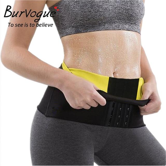 3070df6b21fbd Burvogue Women Waist Trainer Belt Sweat Sauna Neoprene Body Shaper Waist  Slimming Belt Weight Loss Shapewear Plus Size