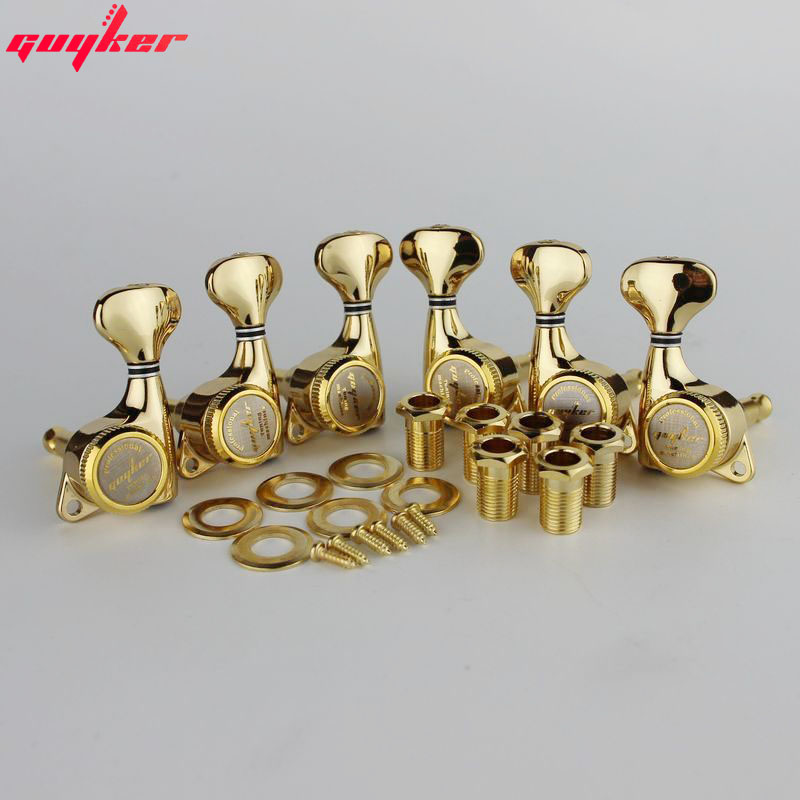 GUYKER Gold Lock String Tuners Electric Guitar Machine Heads Tuners