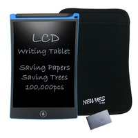 NEWYES Portable Blue 8 5 Inch LCD Writing Tablets Digital Drawing Handwriting Pads With Sleeve And
