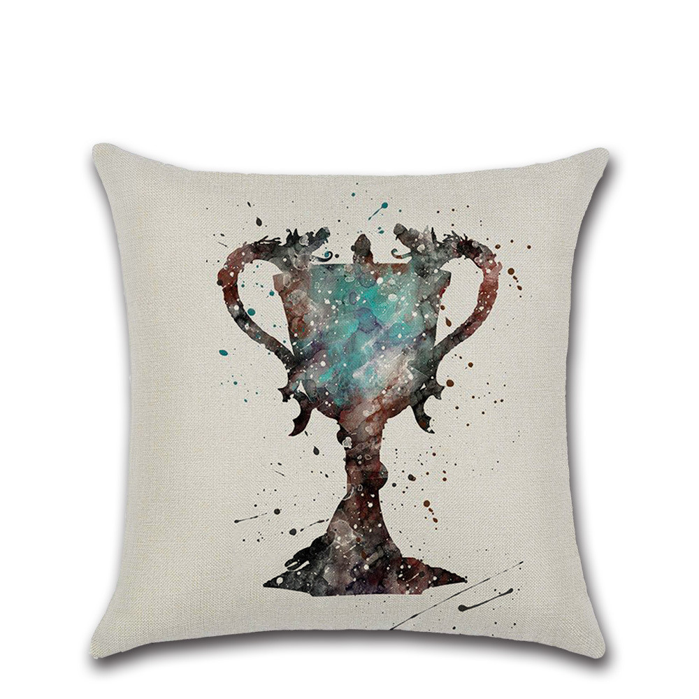 Fantastic Magic hat trophy potter mark printed beige cushion cover Sofa throw Pillow cases Chair house Home Decoration kid gift