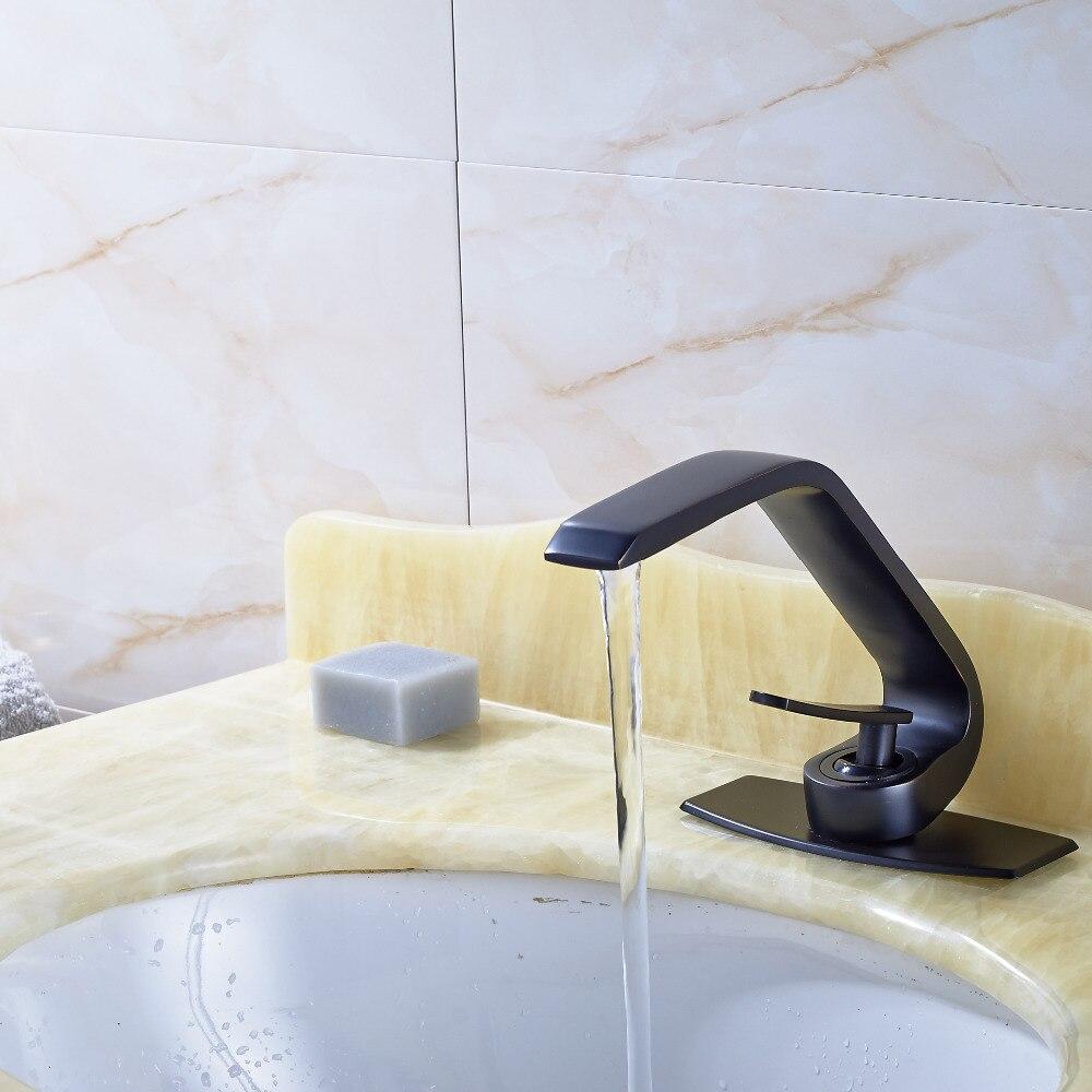 Wholesale And Retail Promotion Bathroom Basin Faucet Oil Rubbed Bronze Mixer Tap Deck Mount wholesale and retail modern oil rubbed bronze bathroom basin faucet teapot vanity sink mixer tap countertop mixer tap