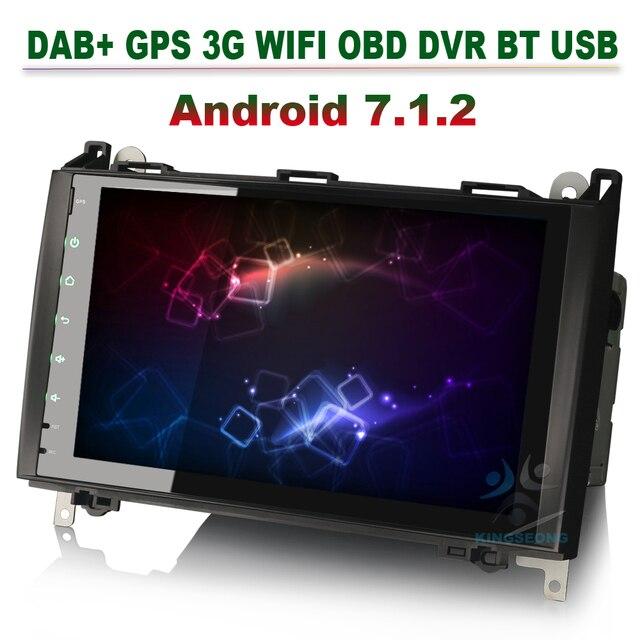 Android 7.1 Car Radio GPS Navigation Autoradio DAB+ 3G WIFI OBD For Mercedes Benz A-Class W169 B-Class W245 Sprinter Viano Vito