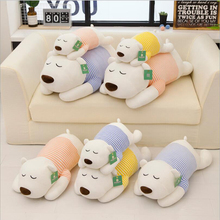 купить New Style Cute Wearing Clothe Polar Bear Plush Toys Stuffed Animal Doll Toy Soft Plush Pillow Children Birthday Gift по цене 1154.12 рублей