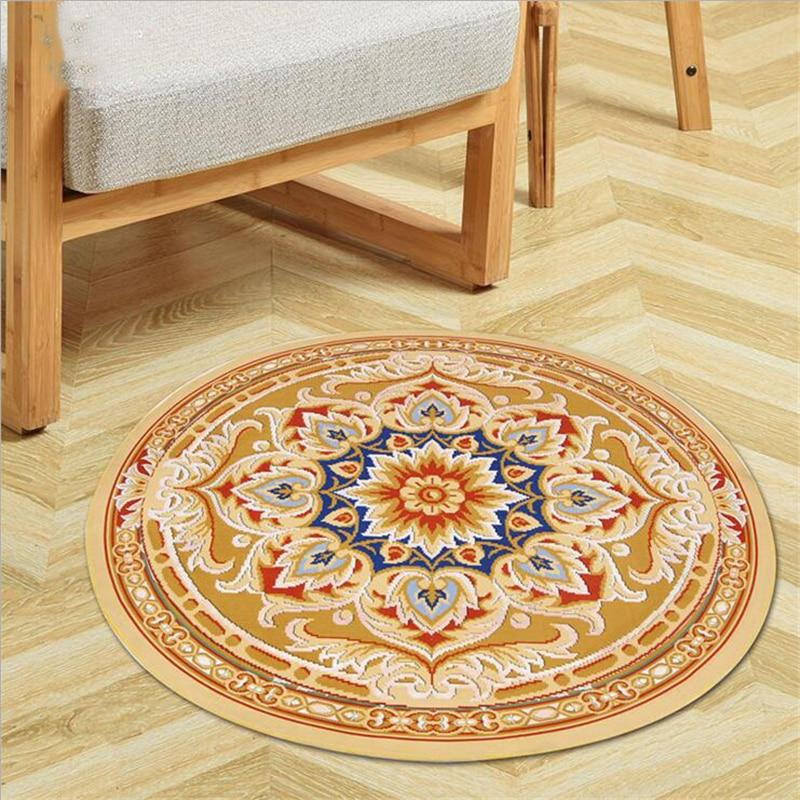 hot sale fashion soft round carpets for living room bedroom kid room rugs home carpet creative. Black Bedroom Furniture Sets. Home Design Ideas
