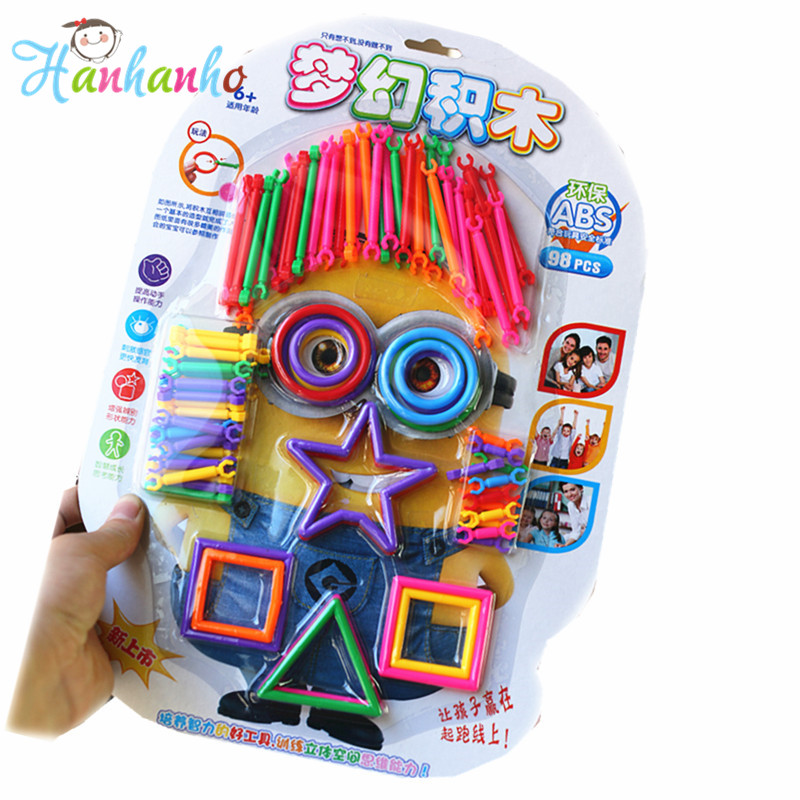 3D Plastic Puzzle Toys Kids Educations toys Birthday Party game DIY Model Building Toys IQ Trainer Game For Children