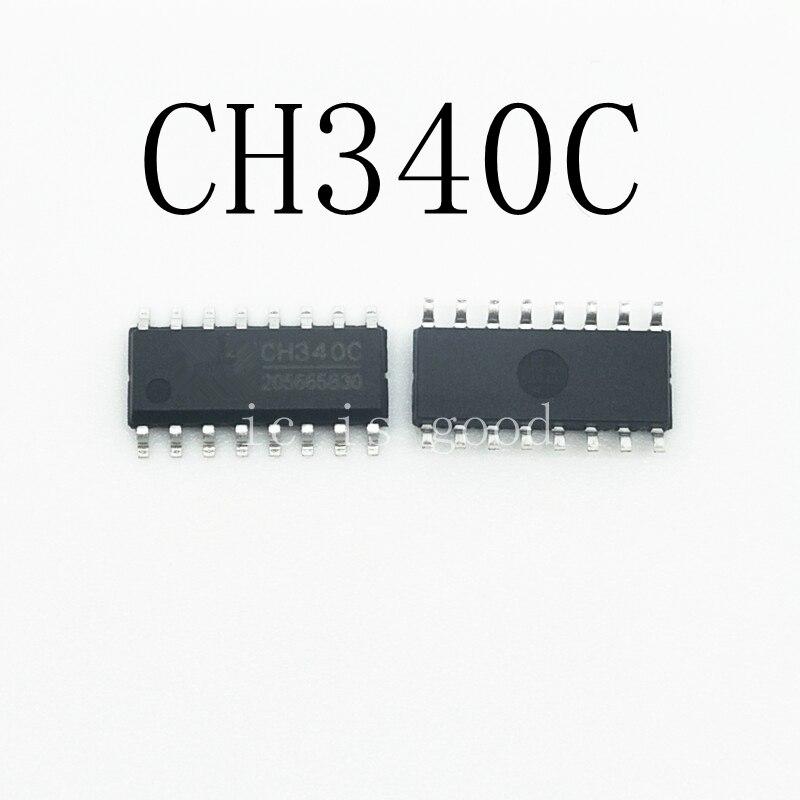 10pcs/lot CH340C SOP-16 USB Serial Chip