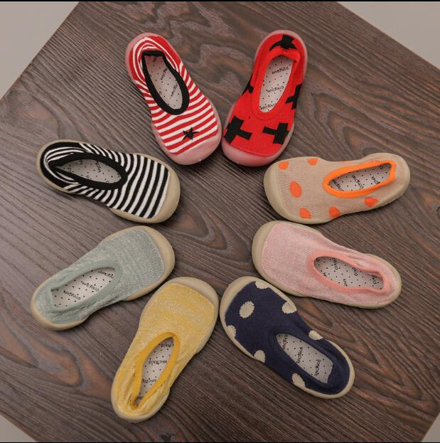 Anti-slip Children Soft Soled Shoes Indoor Outdoor Rubber Baby First Walkers