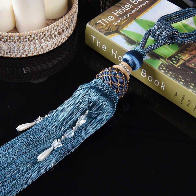 1 пара шелковая бахрома роскошный висящий шарик-шип ручной работы теннисные занавески подтяжки кисточки висячий шар для домашние шторы cp072 #40