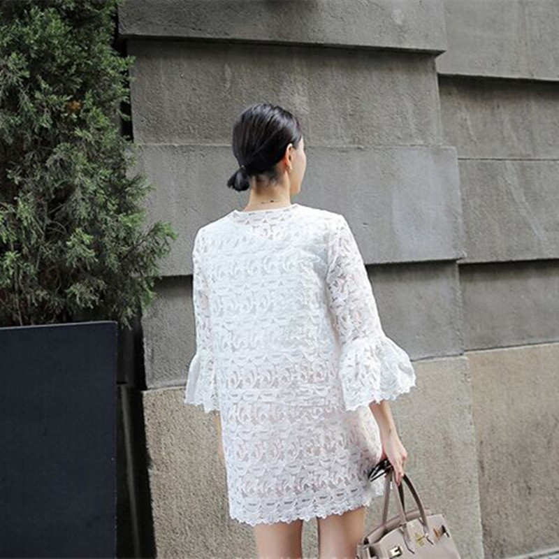 Wanita Blus 2020 Busana Musim Semi Tanduk Lengan Blus Kardigan - Pakaian Wanita - Foto 2