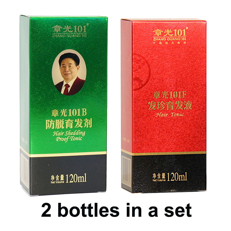 ZhangGuang <font><b>101</b></font> <font><b>hair</b></font> growth products set two bottles <font><b>hair</b></font> tonic a set for dry <font><b>hair</b></font> in early stage powerful <font><b>hair</b></font> regrowth product image