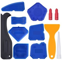 Free Shipping 12 Pieces Caulking Tool Kit Silicone Sealant Finishing Tool Caulking Buddy For A Professional