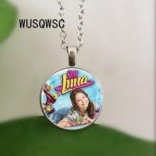 2018 Hot Sale Soy Luna Glass Pendant Necklace Soy Luna Vintage Silver / Bronze / Black color chain Necklace Gift for Kids недорго, оригинальная цена