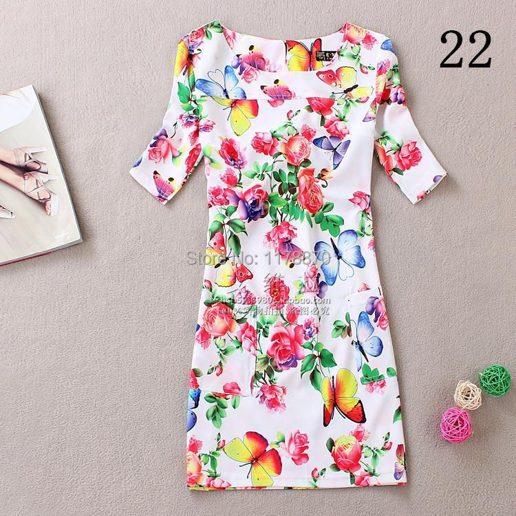 Summer Style Women Dreess 2017 Fashion Printing casual Dress Short Sleeve O-Neck Bohemian Summer Women Dress Vestidos Plus size