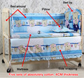 2016 hot sale  Cartoon Mattress for Baby, 5pcs/set Baby bedding sets Children Crib Bedding Set 100% cotton