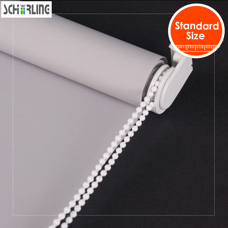 SCHRLING Free shipping Blackout Fabric 28mm Base System Roller Blinds Curtains in Bedrooms For Living room Standard size