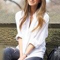 2016 новая коллекция весна дамы топы белый свободные рубашки с длинным рукавом blusas femininas мода повседневная boyfriend рубашки camisa feminina 659