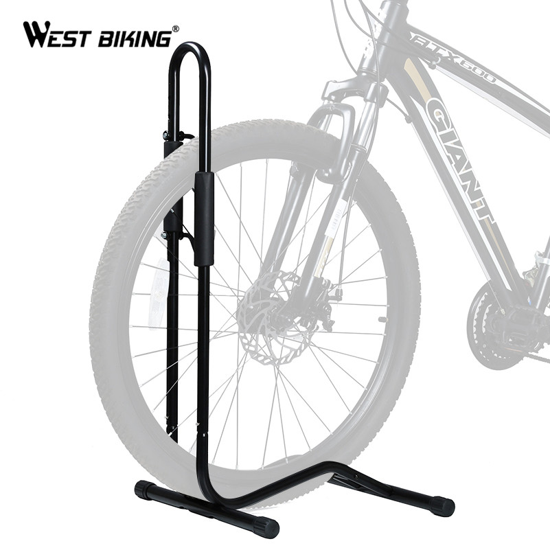 WEST BIKING Bicycle Mechanic Stand Rack Quick Release Floor Stand Aluminum Cycle Bike Adjustable Stand Holds
