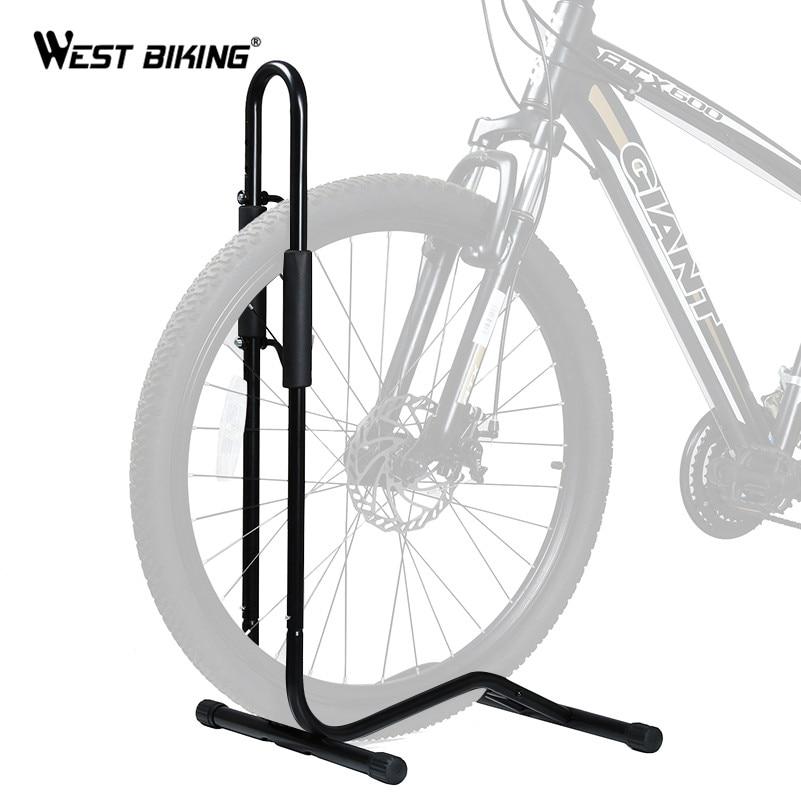 OVEST Meccanico Stand Rack Floor Stand In Alluminio A Sgancio Rapido MOUNTAIN BIKE Bicicletta Ciclo Bike Regolabile Stand Detiene Stand di Riparazione