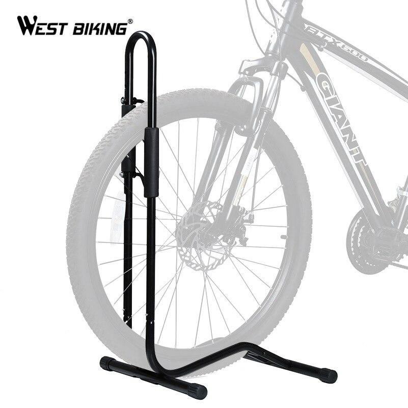 WEST BIKING Велосипедный Спорт механик стойки Quick Release напольная подставка Алюминий Цикл Велосипед Регулируемая подставка держит Ремонт Стенд