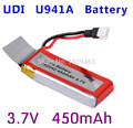 UDI U941 RC Quadcopter spare parts Udi U941/U941A Syma X5C Hubsan H107/H107C/107D 385 Udi parts battery 3.7V 450mAh