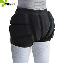 WOSAWE EVA Pad Snowboard Hip Protection Shorts for Kids Ski Roller Skating Hockey Riding Cycling Protective Butt Bicycle Shorts