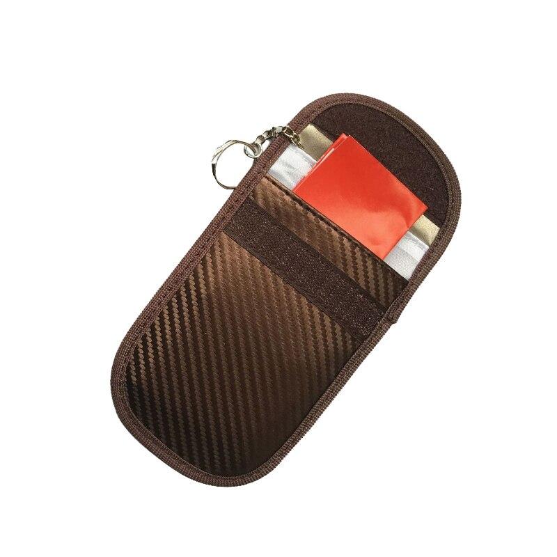 BYCOBECY Carbon Fiber ID Card Holder RFID Blocking Purses  Car Key Holder Multifunctional Casual Card Wallet Money Bag