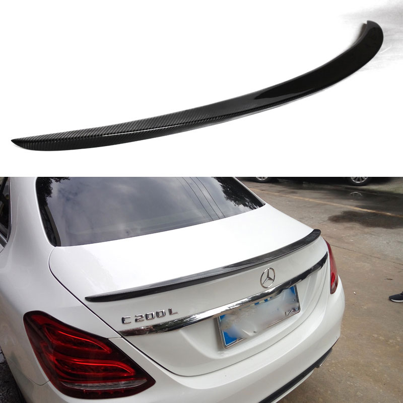 W205 AMG style carbon fiber rear spoiler trunk wing for Benz C class Sedan 2015 2016 C180 C200 C220 C250 C300 2015 2016 amg style w205 carbon fiber rear trunk spoiler wings for mercedes c class c180 c200 c250 c300 c350 c400 c450 c220