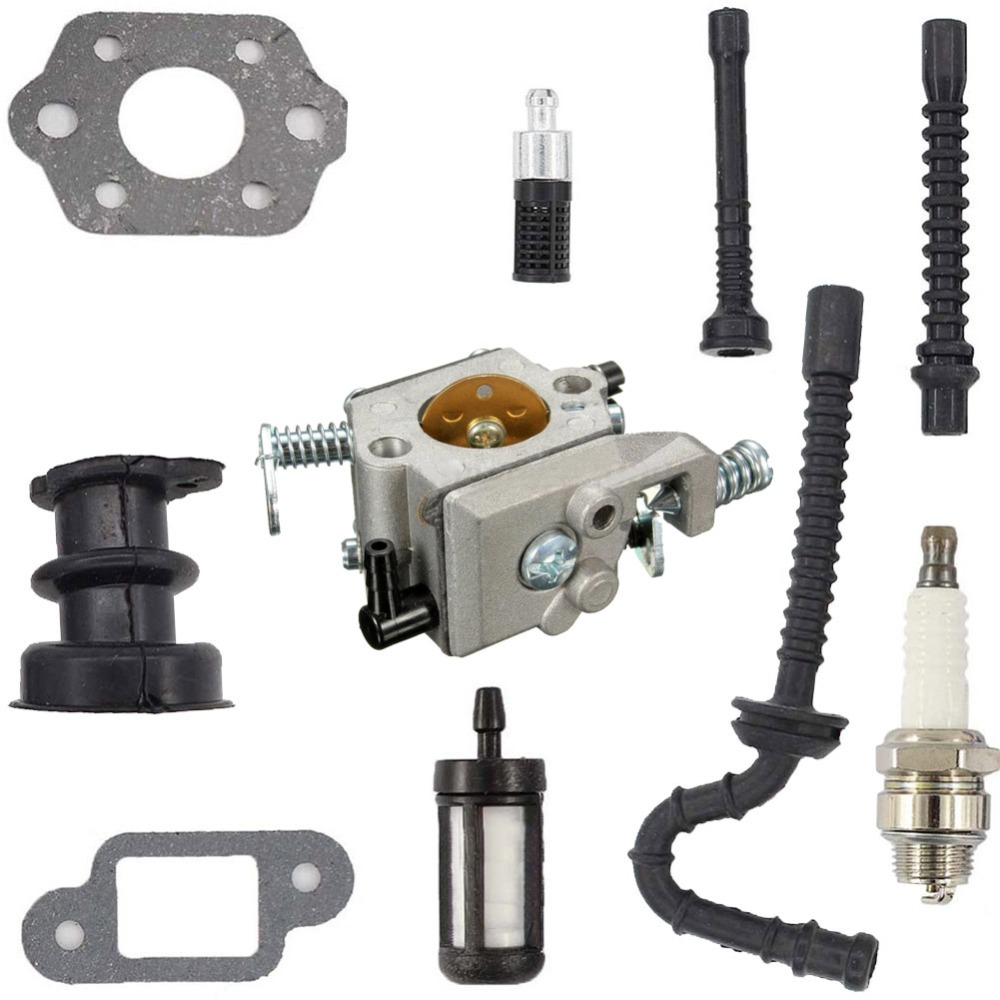 New Carburetor Carb Intake Hose Spark Air Fuel Filter Repair Tool Kit Set  Fit For 021 023 025 MS210 MS230 MS250-in Power Tool Accessories from Tools  on ...